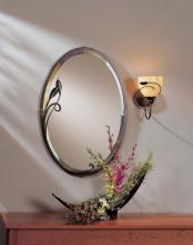Hubbardton Forge 710014-03 - Beveled Oval Mirror with Leaf