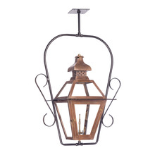 ELK Lighting 7920-WP - Bayou Outdoor Gas Ceiling Lantern In Aged Copper
