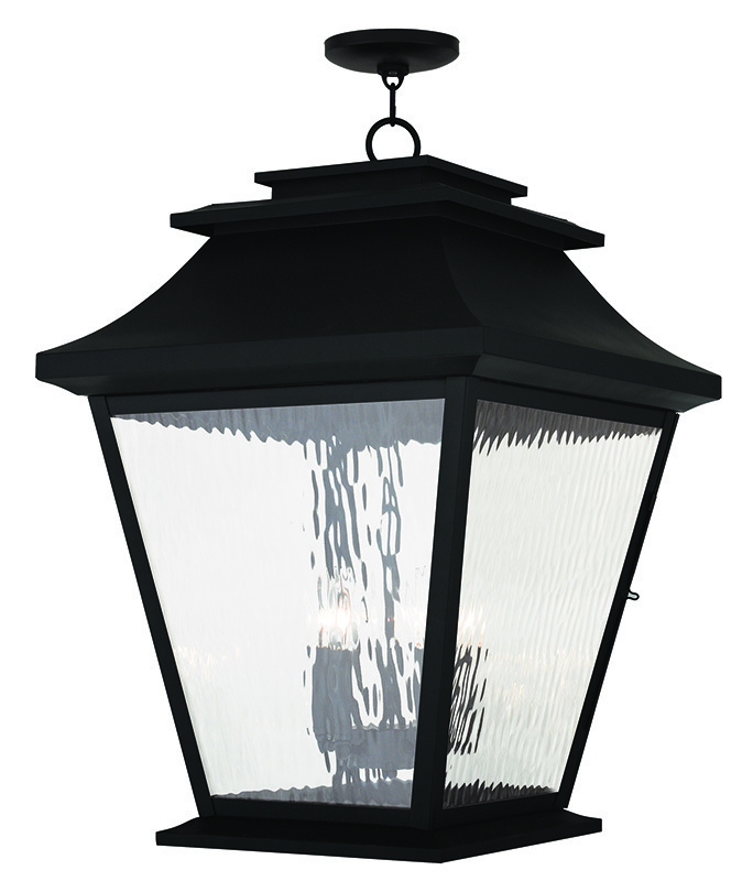 5 Light Black Outdoor Chain Lantern