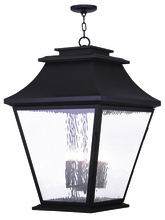 Livex Lighting 20253-07 - 6 Light Bronze Outdoor Chain Lantern