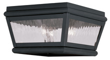 Livex Lighting 2611-04 - 2 Light Charcoal Outdoor Ceiling Mount