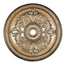Livex Lighting 8228-65 - Vintage Gold Leaf Ceiling Medallion