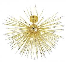 Eglo US 31515A - 22x10W Ceiling Light w/ Gold Plated Finish & Clear Crystal Spheres