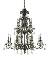 Craftmade 25612-FR - Englewood 12 Light Chandelier in French Roast