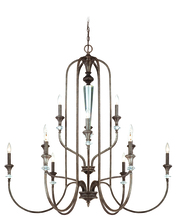 Craftmade 26712-MB - Boulevard 12 Light Chandelier in Mocha Bronze/Silver Accents