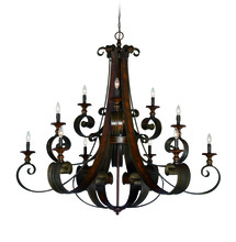 Craftmade 28012-SPZ - Seville 12 Light Chandelier in Spanish Bronze