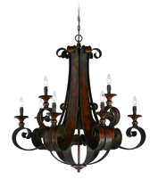 Craftmade 28029-SPZ - Seville 9 Light Chandelier in Spanish Bronze