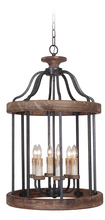 Craftmade 36536-TBWB - Ashwood 6 Light Foyer in Textured Black/Whiskey Barrel