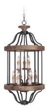 Craftmade 36539-TBWB - Ashwood 9 Light Foyer in Textured Black/Whiskey Barrel