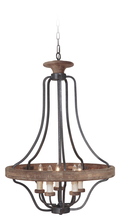 Craftmade 36545-TBWB - Ashwood 5 Light Pendant in Textured Black/Whiskey Barrel