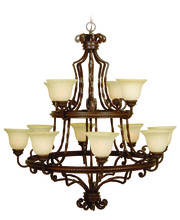 Craftmade 8144AG12 - Riata 12 Light Chandelier in Aged Bronze Textured