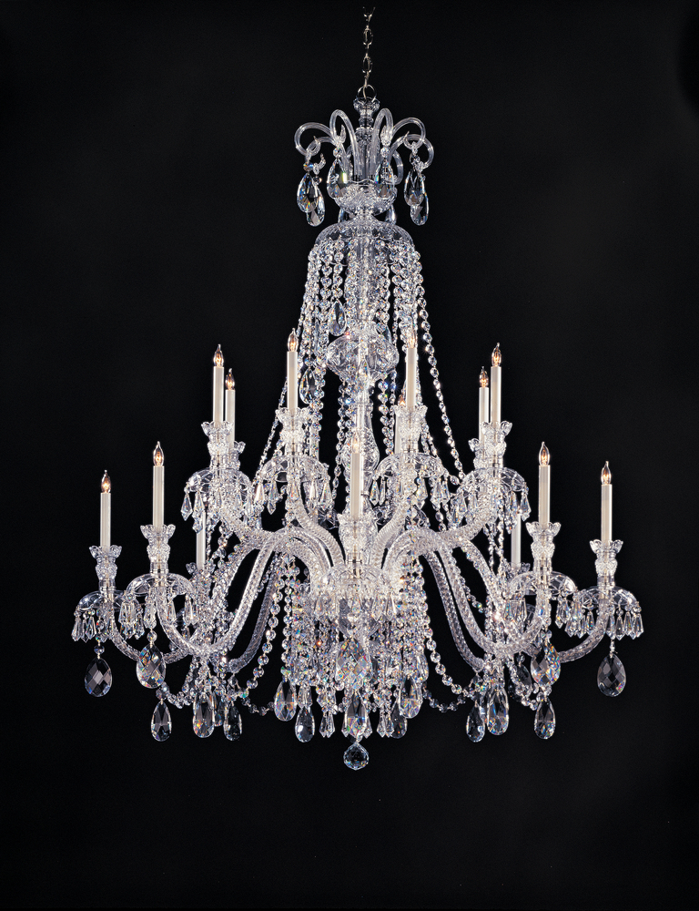 Crystorama Traditional Crystal 16 Light Clear Crystal Chandelier