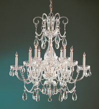 Crystorama 1035-PB-CL-MWP - Crystorama Traditional Crystal 12 Light Crystal Brass Chandelier II