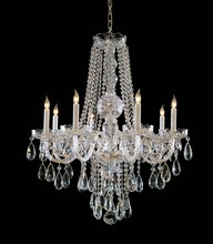 Crystorama 1108-PB-CL-MWP - Crystorama Traditional Crystal 8 Light Crystal Brass Chandelier I