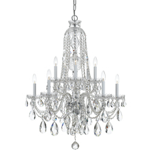 Crystorama 1110-CH-CL-MWP - Crystorama Traditional Crystal 10 Light Clear Crystal Chrome Chandelier I