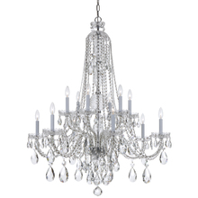 Crystorama 1112-CH-CL-MWP - Crystorama Traditional Crystal 12 Light Clear Crystal Chrome Chandelier II
