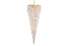 Crystorama 3710-GD-CL-MWP - Crystorama Shower 15 Light Clear Crystal Chandelier I