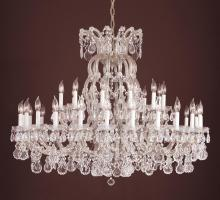 Crystorama 4308-S-SILVER - Crystorama 37 Light Silver Chandelier
