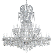 Crystorama 4460-CH-CL-MWP - Crystorama Maria Theresa 37 Light Clear Crystal Chrome Chandelier