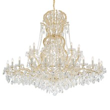 Crystorama 4460-GD-CL-MWP - Crystorama Maria Theresa 37 Light Clear Crystal Gold Chandelier