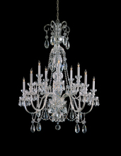 Crystorama 5020-CH-CL-MWP - Crystorama Traditional Crystal 10 Light Clear Crystal Chrome Chandelier IV