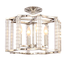 Crystorama 8854-PN_CEILING - Crystorama Carson Polished Nickel 4 Light Ceiling Mount Convertible
