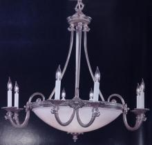 Crystorama 9108-PW - Crystorama Natural Alabaster 13 Light Pewter Chandelier