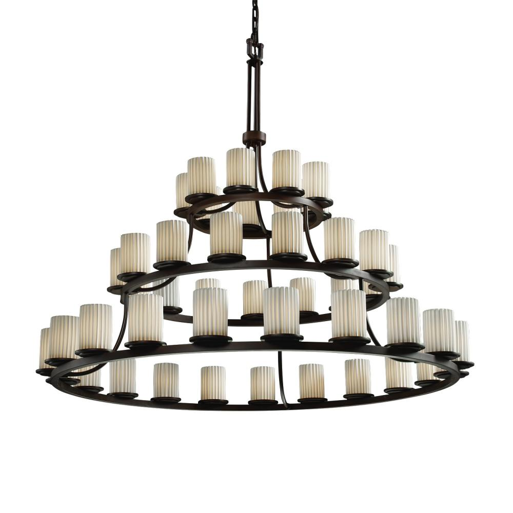 Dakota 45-Light 3-Tier Ring Chandelier : POR-8714-10-BANL-DBRZ ...