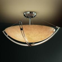 "Justice Design Group CLD-9719-35-MBLK - 60"" Semi-Flush Bowl w/ Crossbar"