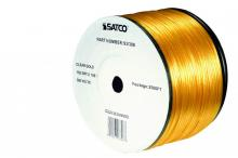 Satco Products Inc. 93/306 - Bulk Wire; 18/2 SPT-2 105°C; 2500 Foot Reel; Clear Gold