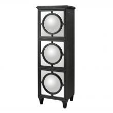 Sterling Industries 136-001 - Mirage Mirrored Shelf Unit In Gloss Black