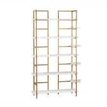 Sterling Industries 351-10204 - Kline White And Gold Shelving Unit