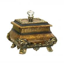 Sterling Industries 91-2254 - Wilton Keepsake Box In Antique Gold