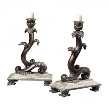 Sterling Industries 93-10047/S2 - Set Of 2 Scroll Candle Holders