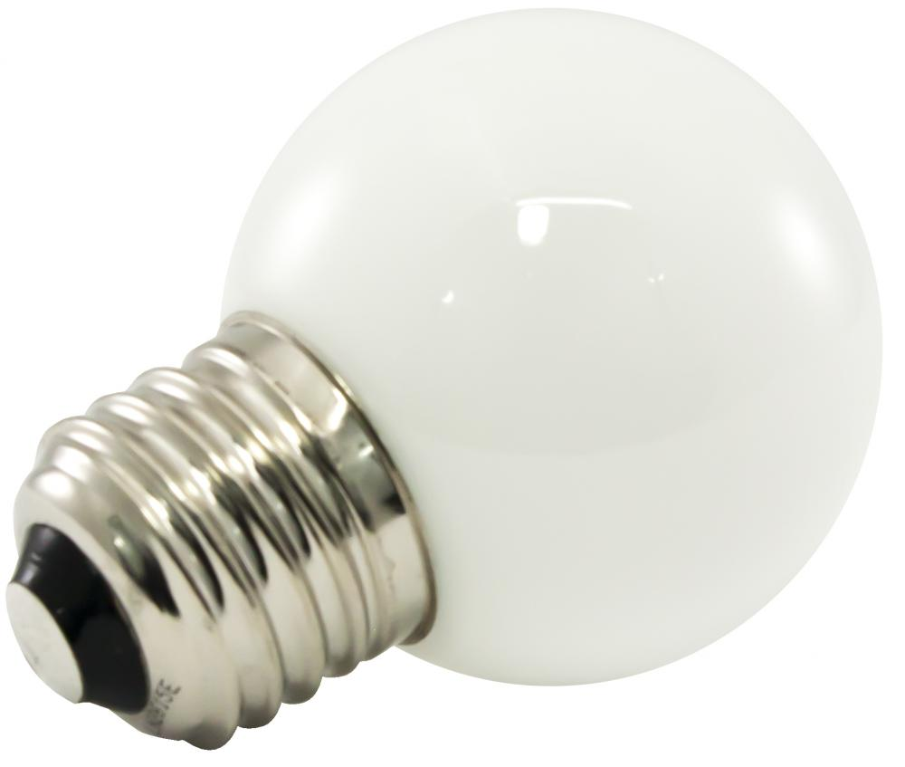 Premium Grade LED Lamp Large Globe, Standard Medium base, Frosted Warm White Glass, wet location and