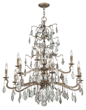 Troy F4746 - SIENA 12LT CHANDELIER 2 TIER EXTRA LARGE