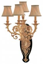 Minka Metropolitan n2344 - French Gold W/black Accent Presented W/optional Shade-sh1929 Shade Wall Light
