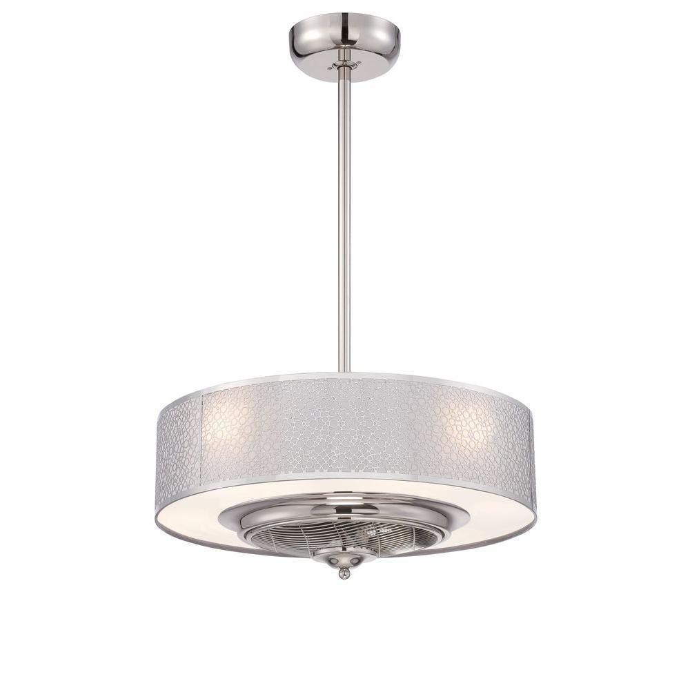 Cozette Collection 24 in. Satin Nickel Indoor Ceiling Fan : 27395WI ...