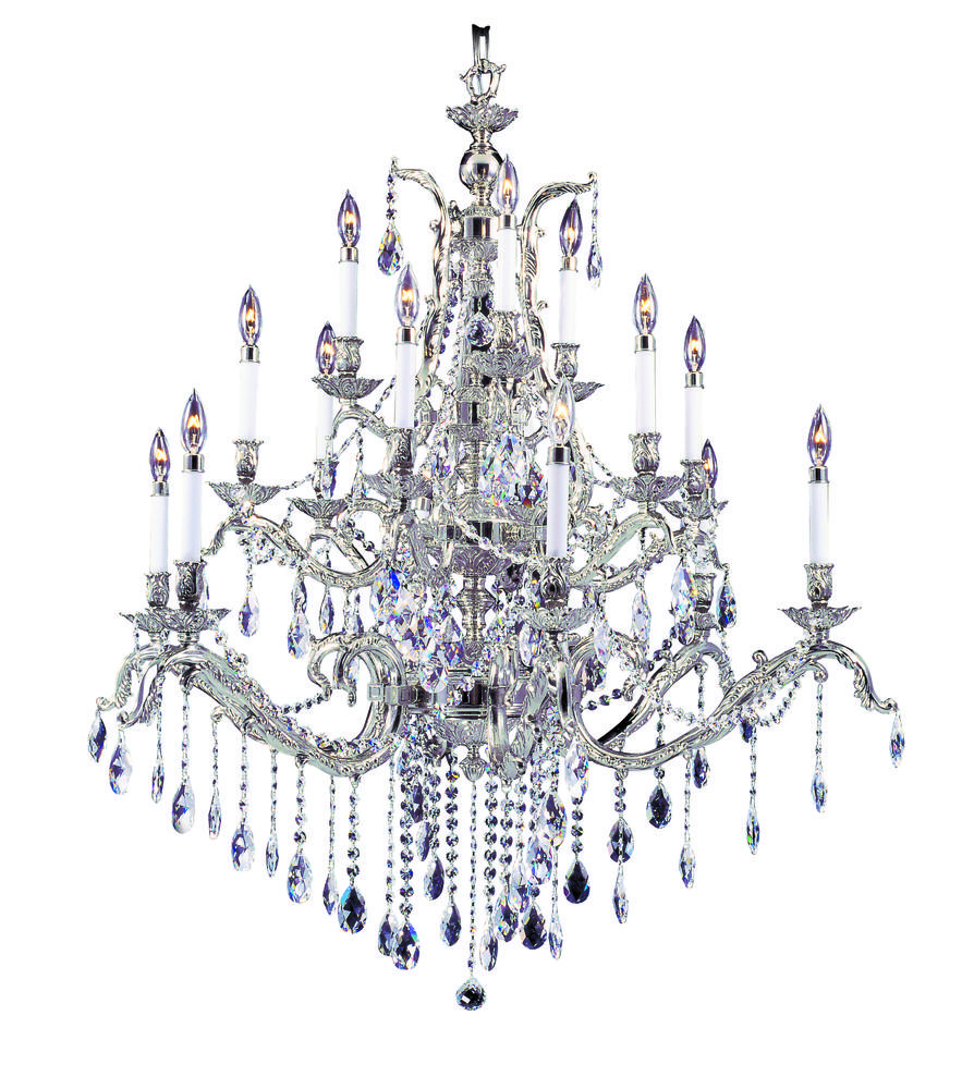 15-Light French Brass Czarina Foyer Chandelier