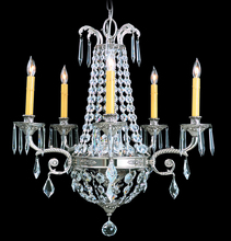 Framburg 1145 PS - 5-Light Polished Silver Czarina Dining Chandelier