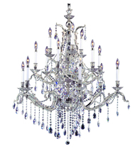 Framburg 8425 FB - 15-Light French Brass Czarina Foyer Chandelier