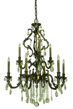Framburg 9959 MB - 9-Light Mahogany Bronze Czarina Dining Chandelier