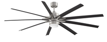 Fanimation FPD8149BNWBL - Odyn - 84 inch - BNW with BL Blades and LED