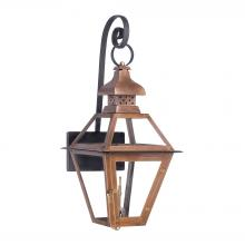 ELK Lighting 7919-WP - Bayou Outdoor Gas Wall Lantern In Aged Copper